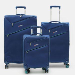 סט 3 מזוודות בסגנון אירופאי AMERICAN TRAVEL