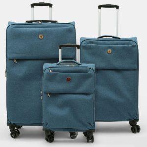סט 3 מזוודות מפוארות ואיכותיות SWISS TRAVEL CLUB