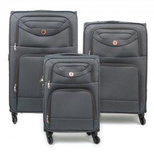 סט 3 מזוודות רכות SWISS TARVEL CLUB