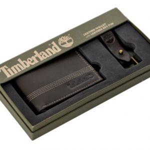 ארנק עור לגבר TIMBERLAND טימברלנד+ מחזיק מפתחות