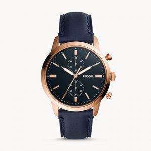 שעון עור לגבר במראה אלגנטי רשמי FOSSIL
