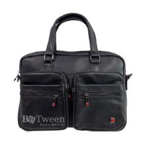 תיק עסקים מעור לגבר במראה אלגנטי רשמי SWISS TRAVEL סוויס