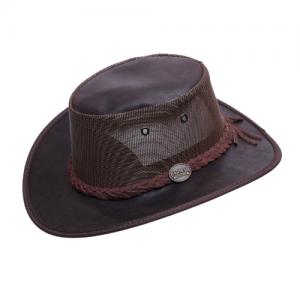 כובע מעור זמש בשילוב רשת Barmah